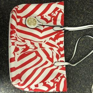 women's christian lacroix red zebra purse